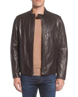 Marc New York Gibson Slim Leather Moto Jacket