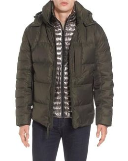 Quilted Down Jacket With Zip Out Bib