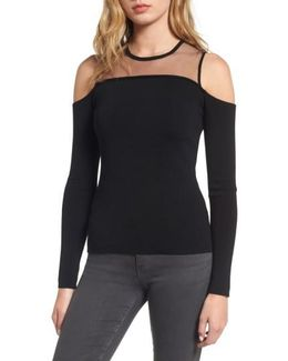 Swallowed Whole Cold Shoulder Sweater