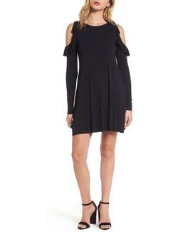Mirror Mirror Cold Shoulder A-line Dress