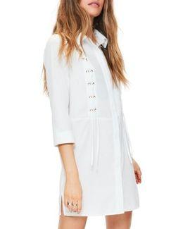 Lace-up Shirtdress