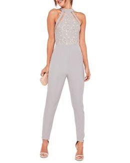 Lace Sleeveless Jumpsuit