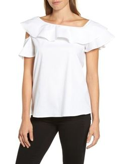 Ruffle One-shoulder Top