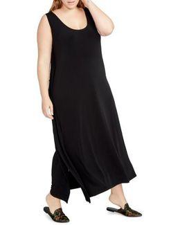 Side Drape Maxi Dress