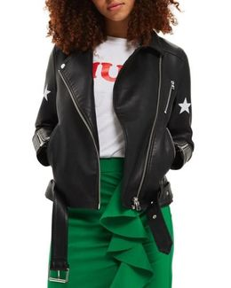 Sisters Faux Leather Biker Jacket