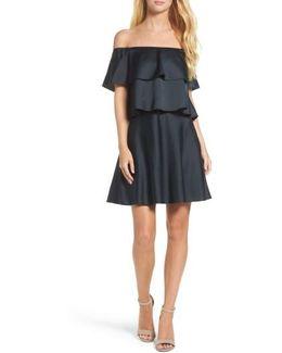 Off The Shoulder Popover Dress