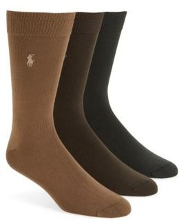 Assorted 3-pack Supersoft Socks, Brown