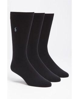 Assorted 3-pack Supersoft Socks, Blue