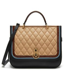 Amberley Quilted Calfskin Leather Satchel