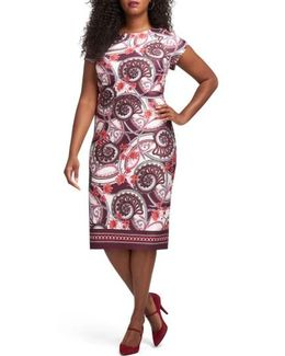 Floral Paisley Sheath Dress
