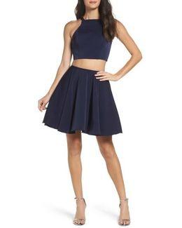 Strappy Back Two-piece Skater Dress