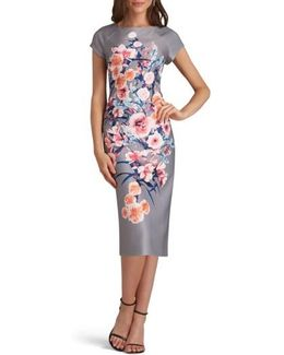 Edi Print Scuba Sheath Dress