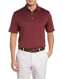 Stretch Knit Solid Polo
