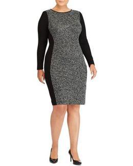 Colorblock Jersey Sheath Dress