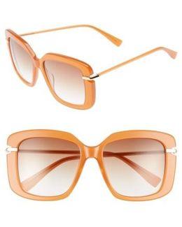 Anita 55mm Square Sunglasses - Amber