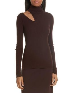 Kara Merino Wool Blend Cutout Sweater