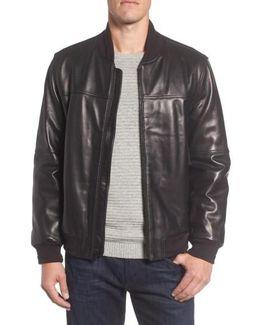 Summit Leather Bomber Jacket