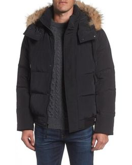 Insulated Jacket With Genuine Coyote Fur