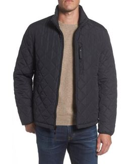 Faux Shearling Lined Quilted Jacket