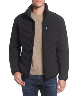 Stretch Packable Down Jacket, Black