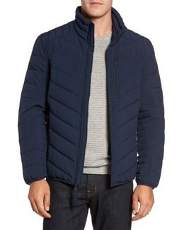 Stretch Packable Down Jacket, Blue