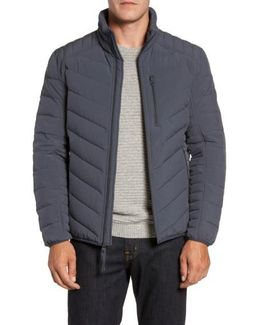 Stretch Packable Down Jacket, Grey