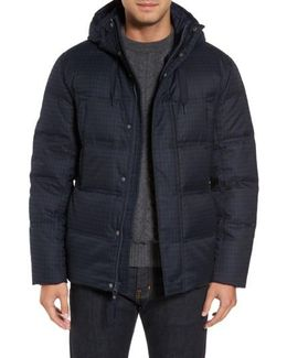 Houndstooth Quilted Down Jacket