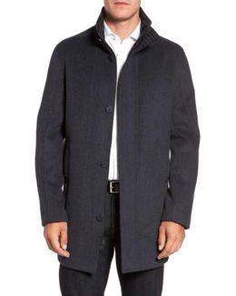 Double Face Wool Blend Car Coat