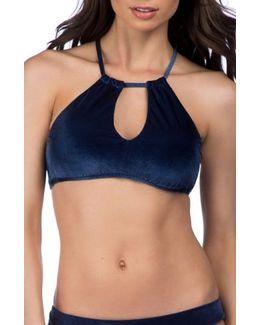Velveteen Underground Halter Bikini Top