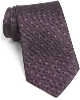 John Varvatos Star Usa Dot Silk Tie