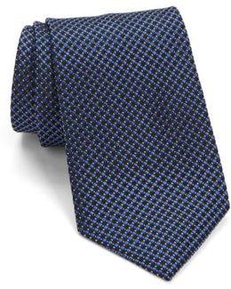 John Varvatos Star Usa Check Silk Tie