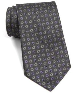 John Varvatos Star Usa Medallion Silk Tie
