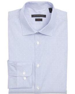 John Varvatos Star Usa Slim Fit Stretch Stripe Dress Shirt