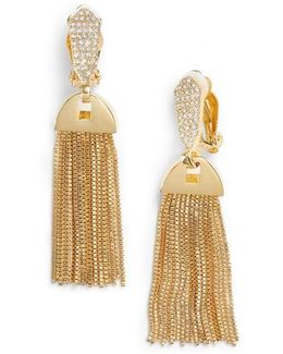 Clip-on Tassel Drop Earrings