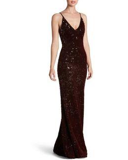 Vanessa Sequin Gown