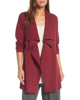 Long Angle Front Cardigan