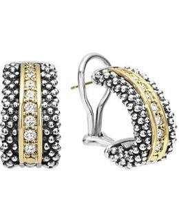 'caviar' Diamond Hoop Earrings