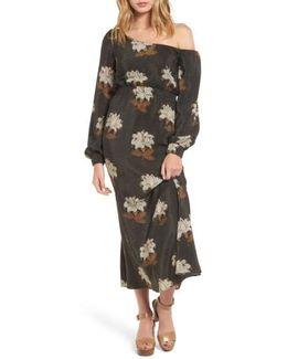 Johnny One-shoulder Silk Dress