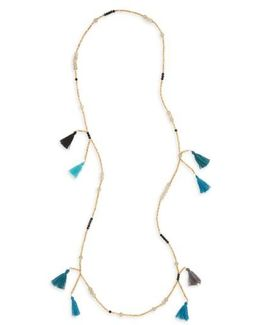 Multi Tassel Beaded Necklace