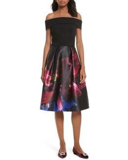 Keris Mirrored Minerals Tulip Fit & Flare Dress