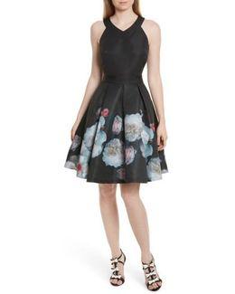 Jelina Chelsea Floral Fit & Flare Dress