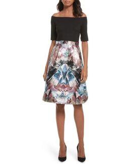 Kimey Impressionist Fit & Flare Dress