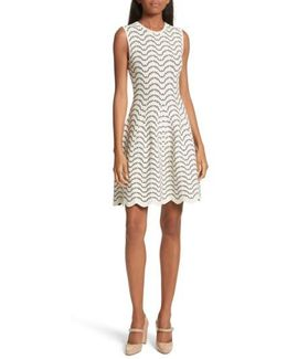 Bryena Jacquard Fit & Flare Dress