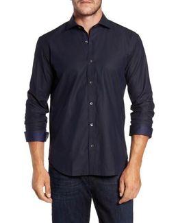 Trim Fit Solid Sport Shirt