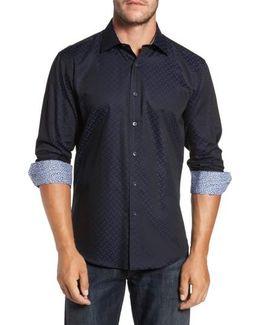 Trim Fit Geo Jacquard Sport Shirt