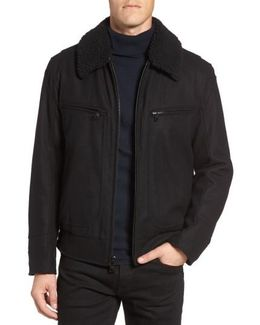 Concord Faux Shearling Aviator Jacket