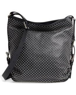 Medium Naomi Grommet Leather Hobo