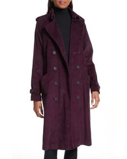 Ferry Double Breasted Corduroy Trench Coat
