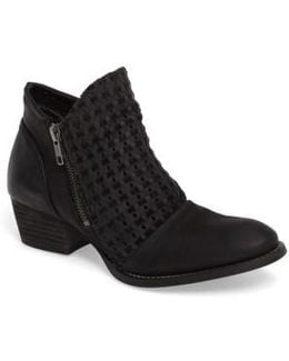 Ravi Perforated Woven Bootie