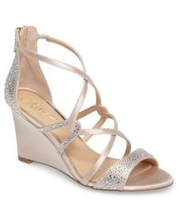 Ally Ii Embellished Wedge Sandal